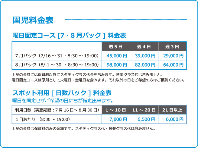 鎌倉アミ夏のサマースクール受付開始 園児